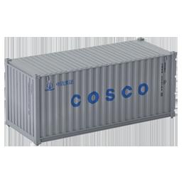 Container 20 pieds Cosco gris